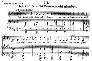 ich kann's nicht fassen, nicht glauben op.42 no.3, low voice in b flat minor, r. schumann (frauenliebe und leben). c.f. peters.
