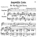 Mit Myrten und Rosen Op. 24 No. 9, Low Voice in A Major, R. Schumann (Liederkreis).  C.F. Peters. | eBooks | Sheet Music