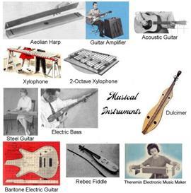 vintage musical instruments plans