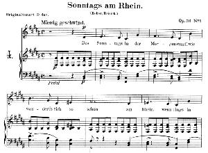 sonntags am rhein op.36 no.1,low voice in b major, r. schumann. c.f. peters.