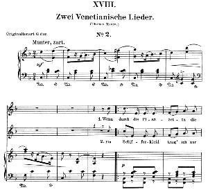 venetianisches lied ii op.25 no.18, low voice in f major, r. schumann (myrten). c.f. peters