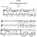 Venetianisches Lied II Op.25 No.18, Low Voice in F Major, R. Schumann (Myrten). C.F. Peters | eBooks | Sheet Music