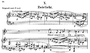 zwielicht op.39 no.10, low voice in d minor, r. schumann (liederkreis).  c.f. peters.