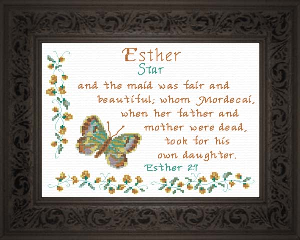 Name Blessings -  Esther | Crafting | Cross-Stitch | Religious