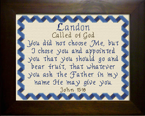 Name Blessings -  Landon | Crafting | Cross-Stitch | Religious