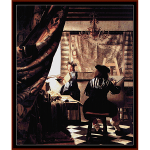 the art of painting - vermeer cross stitch pattern by cross stitch collectibles