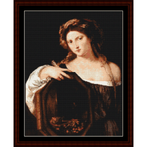 Vanity - Titian cross stitch pattern by Cross Stitch Collectibles | Crafting | Cross-Stitch | Wall Hangings