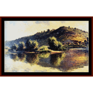 seine at port villez - monet cross stitch pattern by cross stitch collectibles