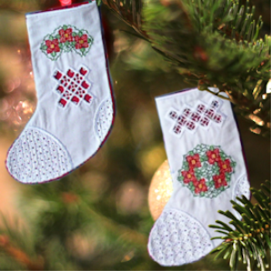 Hardanger Stockings HUS   Crafting   Embroidery