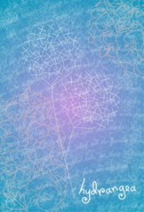 hydrangea embroiderers background