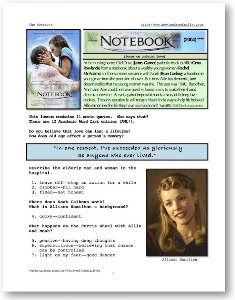 THE NOTEBOOK, Whole-Movie English (ESL) Lesson | eBooks | Education