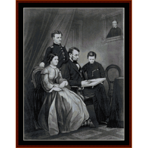 abraham lincoln and family - american history cross stitch pattern by cross stitch collectibles