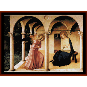 Annunciazione Beato Angelico - Caravaggio cross stitch pattern by Cross Stitch Collectibles | Crafting | Cross-Stitch | Religious