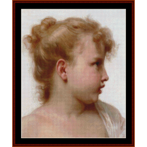 de petite fillet - bouguereau cross stitch pattern by cross stitch collectibles