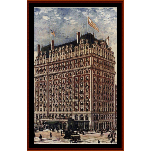 hotel knickerbocker - american history cross stitch pattern by cross stitch collectibles