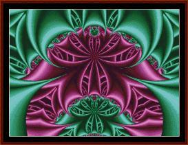 fractal 100 cross stitch pattern by cross stitch collectibles
