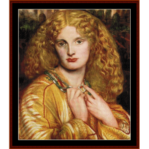 Helen of Troy - Dante Rossetti cross stitch pattern by Cross Stitch Collectibles | Crafting | Cross-Stitch | Wall Hangings