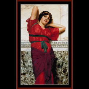 contemplation - godward cross stitch pattern by cross stitch collectibles