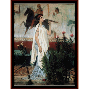 a greek woman - alma tadema cross stitch pattern by cross stitch collectibles