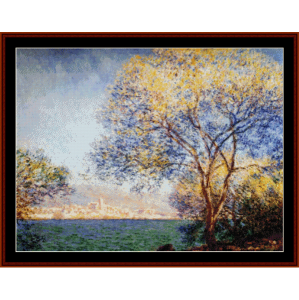 antibes in the morning - monet cross stitch pattern by cross stitch collectibles