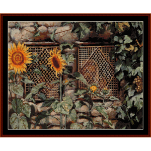 behold the wall - tissot cross stitch pattern by cross stitch collectibles