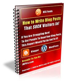 how to write blog posts that suck visitors in.