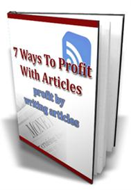 7 ways to profit with articles - with master resale rights