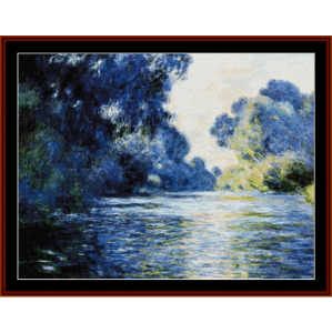 seine at giverny - monet cross stitch pattern by cross stitch collectibles