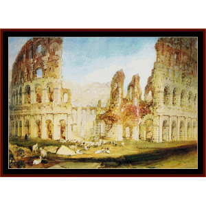 colosseum rome - turner cross stitch pattern by cross stitch collectibles