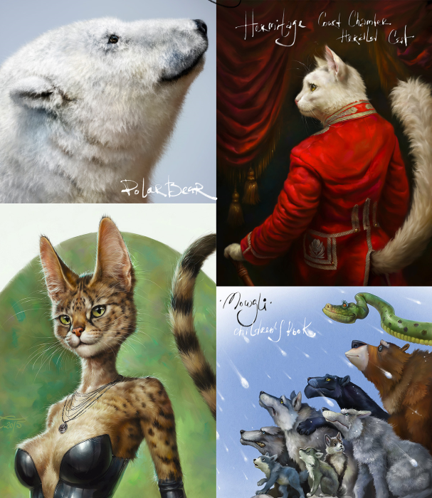 Third Additional product image for - Realistic FUR. 28 Brushes for Adobe Photoshop