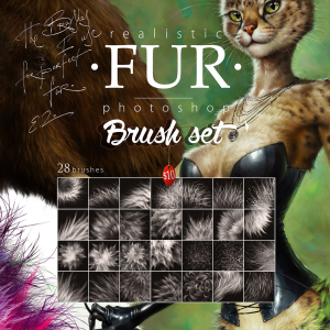 realistic fur brush set for photoshop