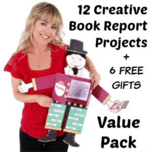 12 creative book report projects and 6 free gifts value pack