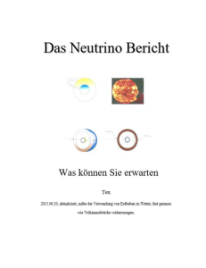 neutrino bericht deutsche version, google maschine tranlation .