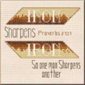 Iron Sharpens - Proverbs 27:17 Chart | Crafting | Cross-Stitch | Other