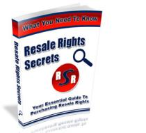 resale rights secrets with master resale