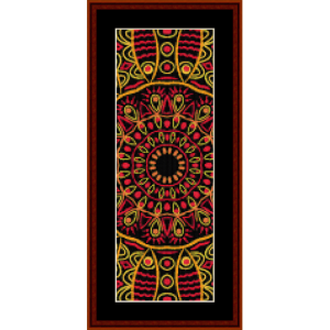 fractal 504 bookmark cross stitch pattern by cross stitch collectibles