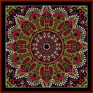 Fractal 500 cross stitch pattern by Cross Stitch Collectibles | Crafting | Cross-Stitch | Wall Hangings