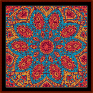 fractal 502 cross stitch pattern by cross stitch collectibles
