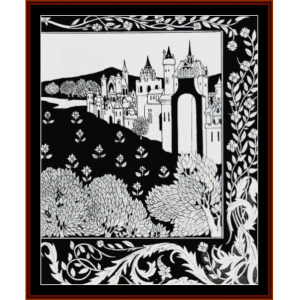 queen guinevere - beardsley cross stitch pattern by cross stitch collectibles