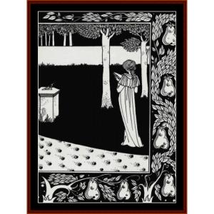 la beales isoud at joyous gard - beardsley cross stitch pattern by cross stitch collectibles