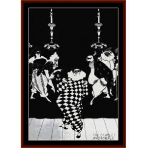 the scarlet pastorale - beardsley cross stitch pattern by cross stitch collectibles