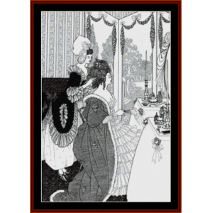 the toilette - beardsley cross stitch pattern by cross stitch collectibles