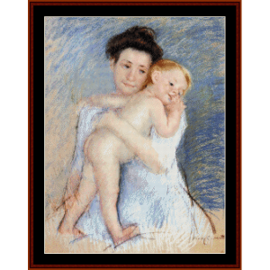 Maternal Tenderness - Cassatt cross stitch pattern by Cross Stitch Collectibles | Crafting | Cross-Stitch | Wall Hangings