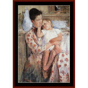 mother and child iv - cassatt cross stitch pattern by cross stitch collectibles