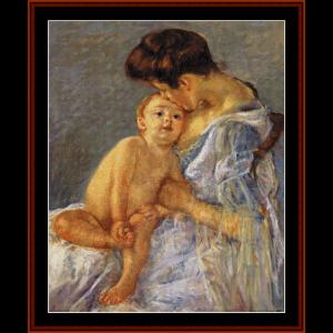 motherhood - cassatt cross stitch pattern by cross stitch collectibles