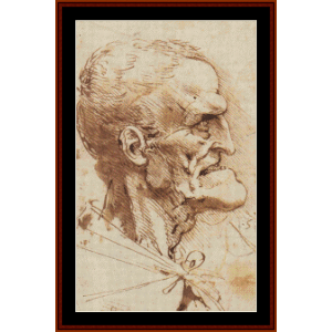 Grotesque Profile - DaVinci cross stitch pattern by Cross Stitch Collectibles | Crafting | Cross-Stitch | Wall Hangings