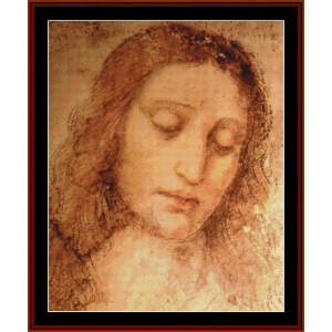 study of christ for the last supper - davinci cross stitch pattern by cross stitch collectibles