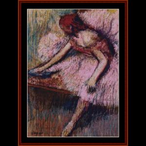 Pink Dancer II - Degas cross stitch pattern by Cross Stitch Collectibles | Crafting | Cross-Stitch | Wall Hangings