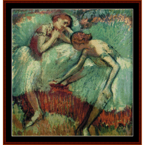 Two Dancers at Rest - Degas cross stitch pattern by Cross Stitch Collectibles   Crafting   Cross-Stitch   Wall Hangings