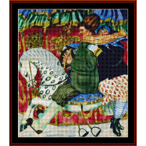 At the Carnival - Kustodiev cross stitch pattern by Cross Stitch Collectibles   Crafting   Cross-Stitch   Wall Hangings